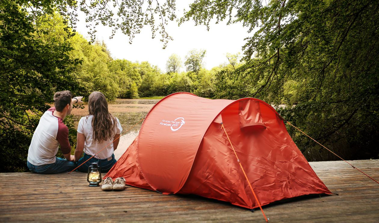 Camping in tents from GO range